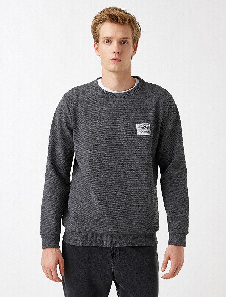 Logo Baskılı Sweatshirt