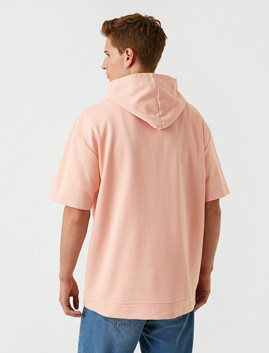 Short Sleeved Sweatshirt Hooded