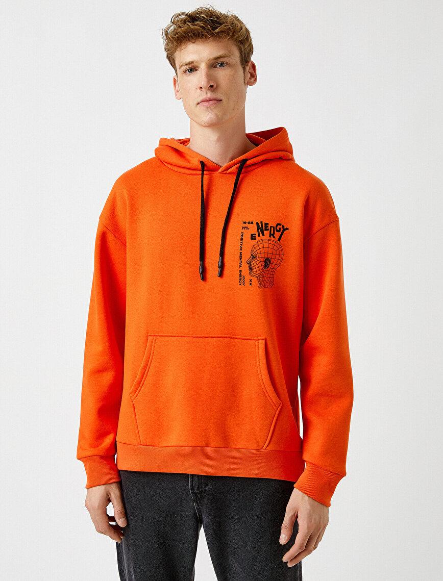 Oversized Slogan Printed Sweatshirt
