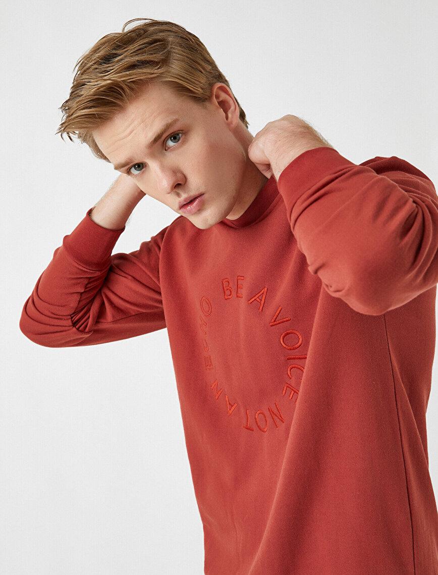 Printed Sweatshirt Crew Neck