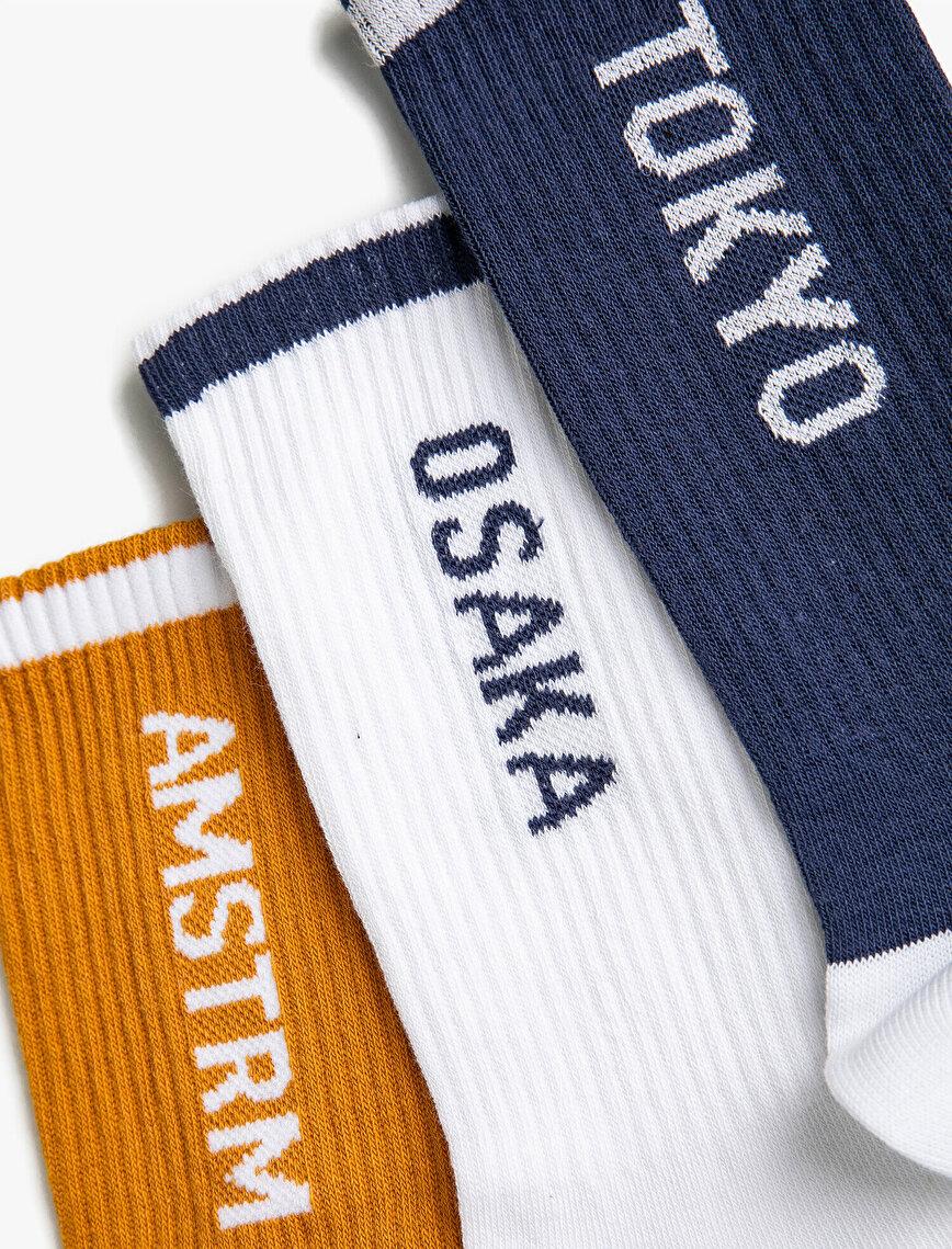 Fitilli Soket Çorap Seti 3'lü