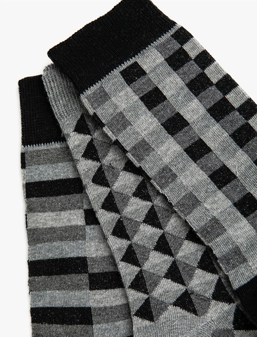 Men Patterned Socks Set 3-Packs