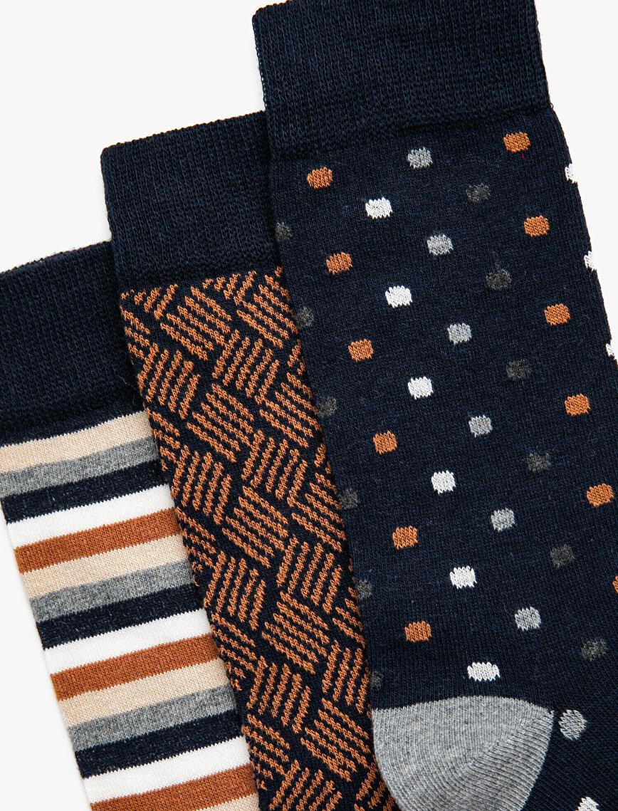 Erkek Desenli Çorap Seti 3'lü