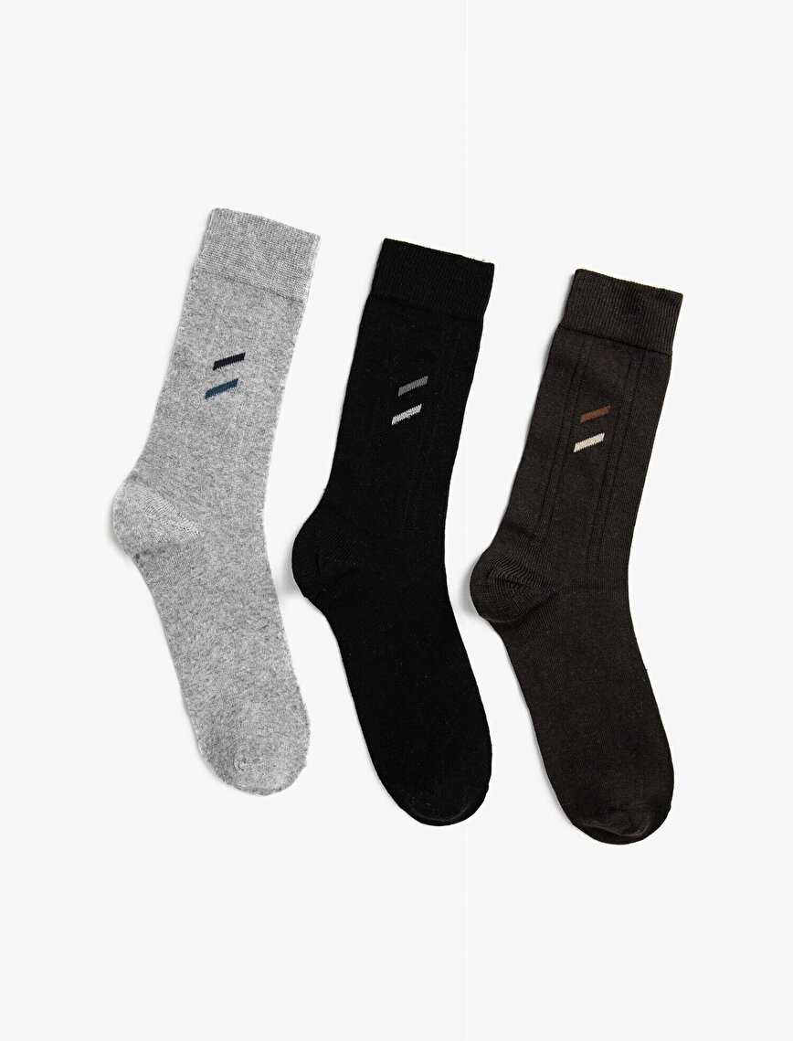 Erkek Pamuklu Soket Çorap Seti 3'lü