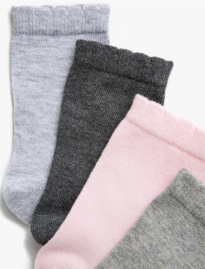 Uzun Çorap Seti 4'lü Pamuklu Basic