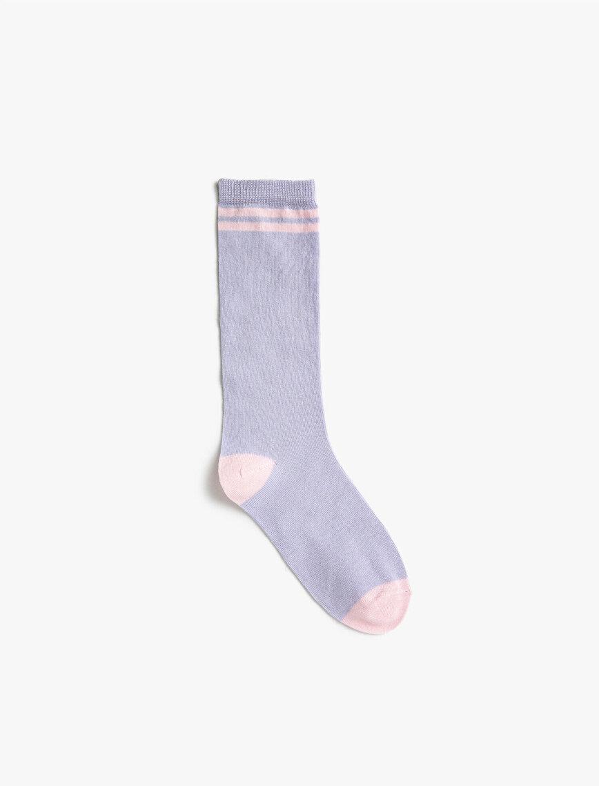 Çizgili Kız Çocuk Çorap