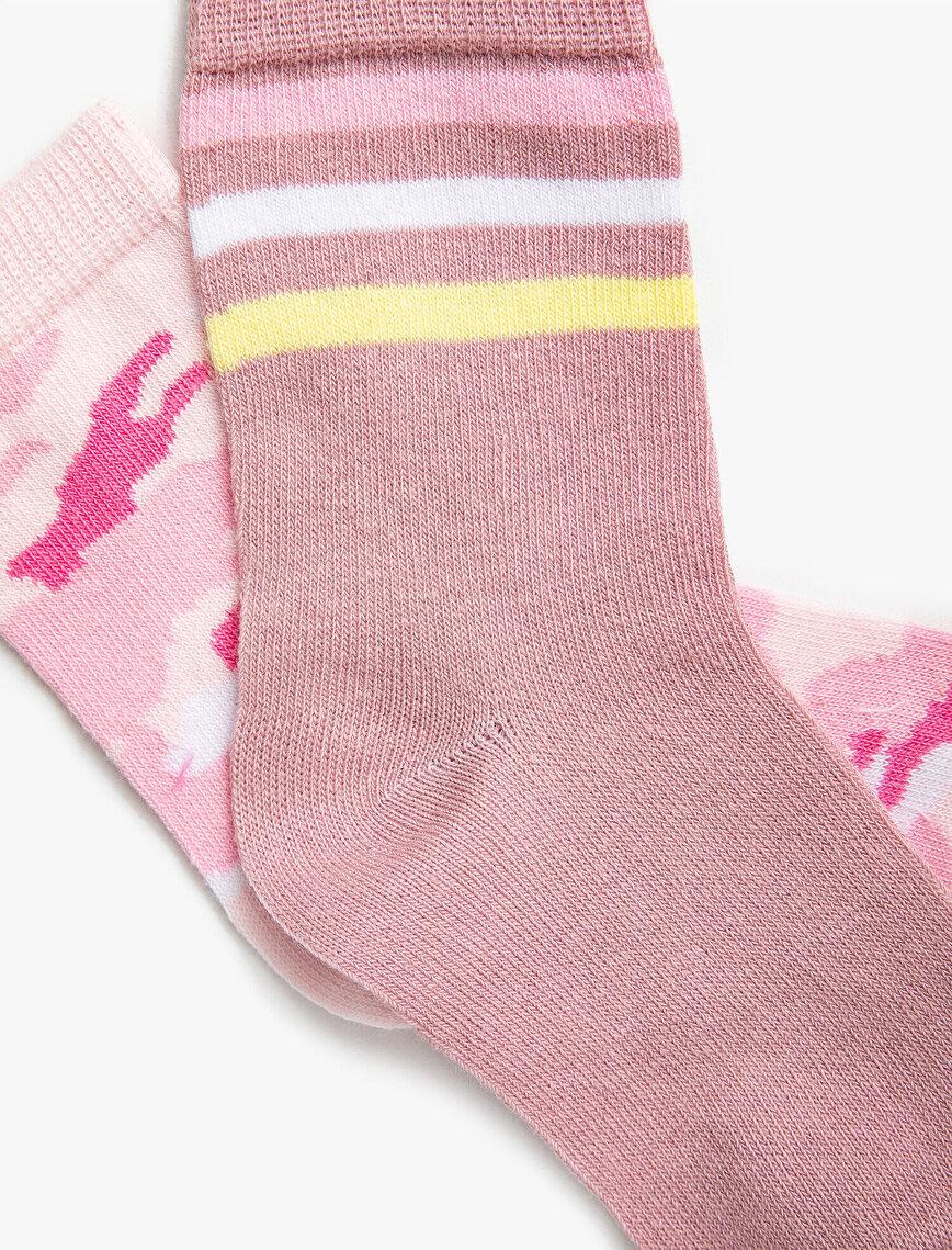 2'li Kız Çocuk Çorap