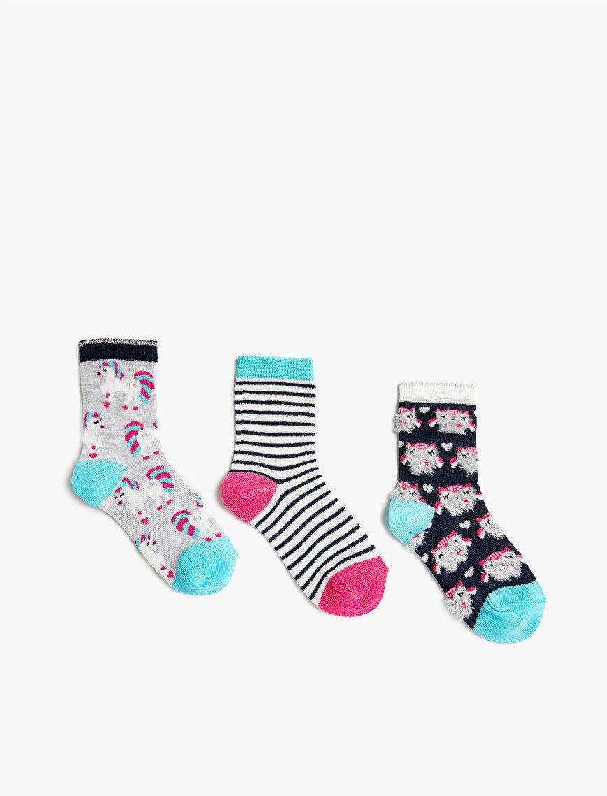 Pamuklu Soket Çorap 3'lü