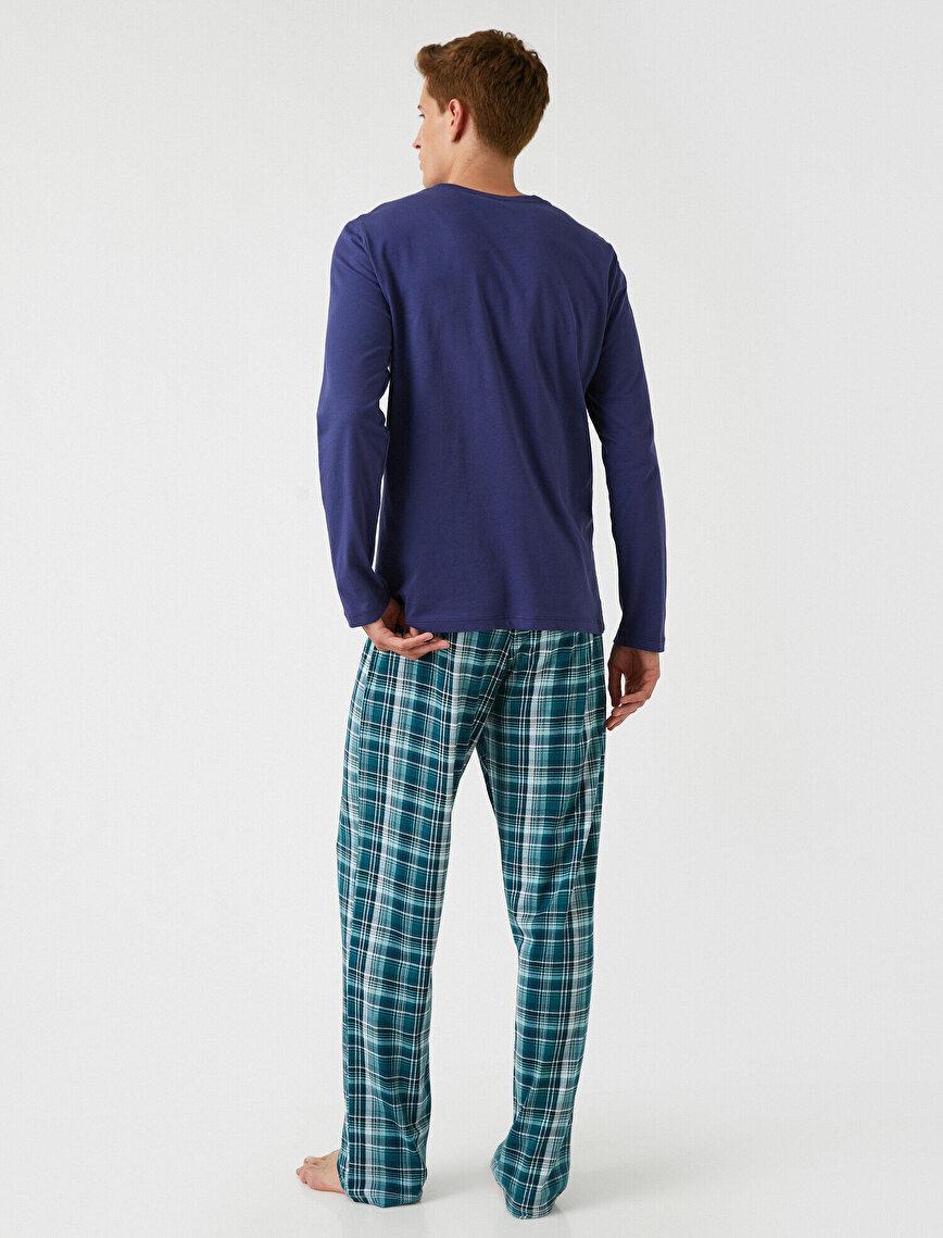 Checked Printed Pyjamas Knit Set