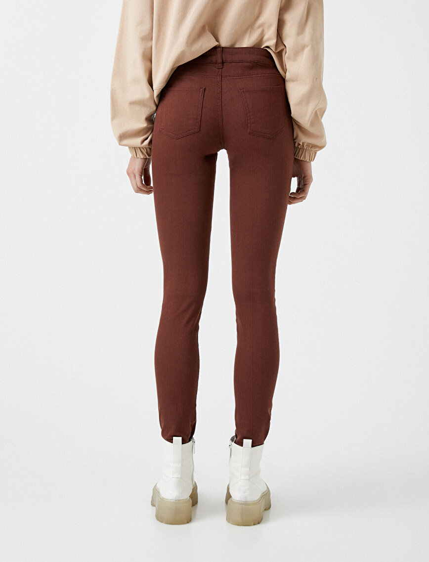 Pamuklu Skinny Jean Pantolon
