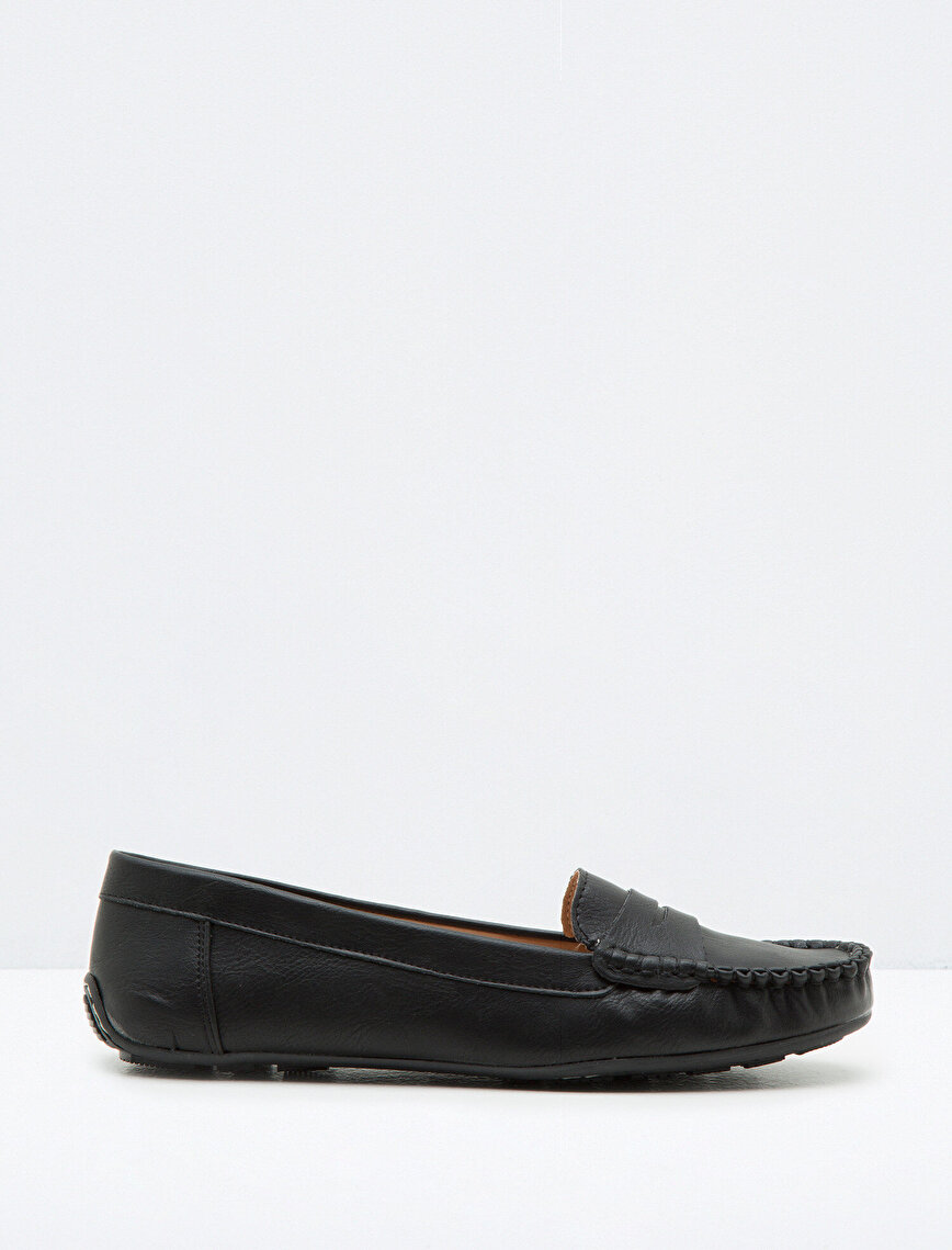 Leather Look Loafer