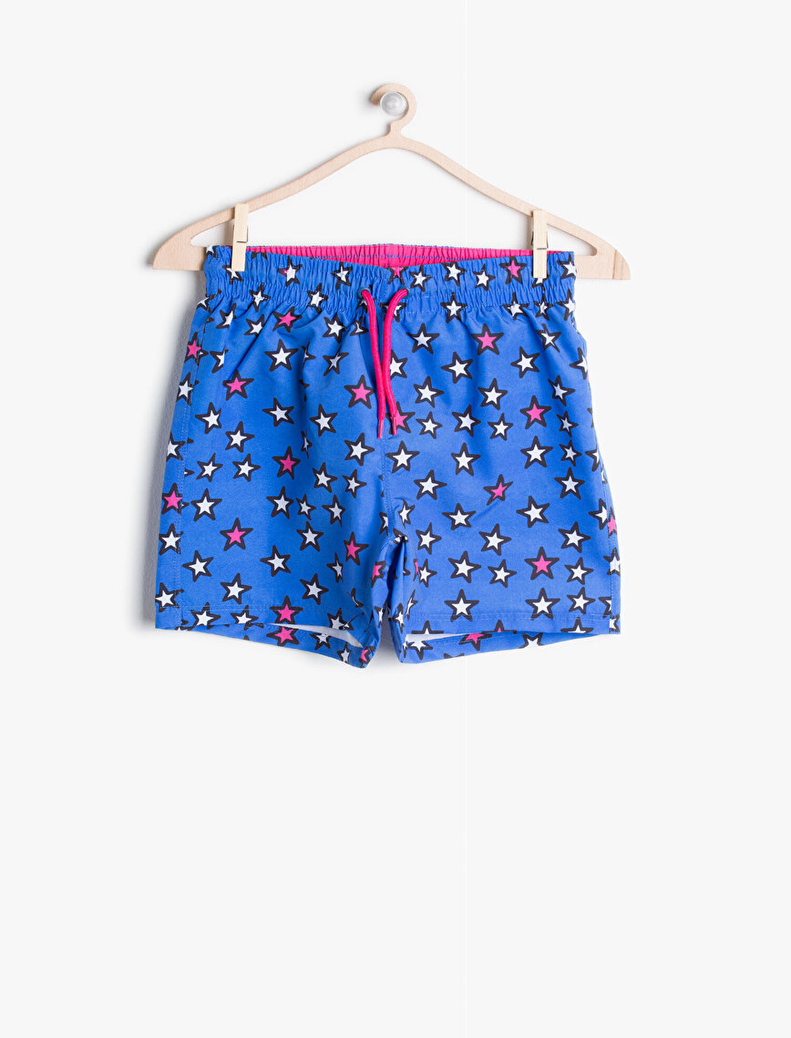 Tie Waist Swim Shorts