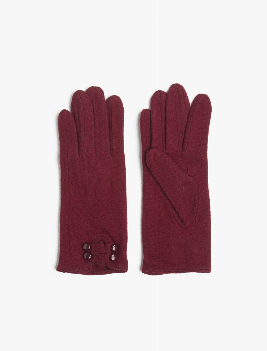 Buckle Detailed Gloves