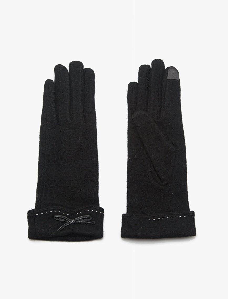 Bow Detailed Gloves