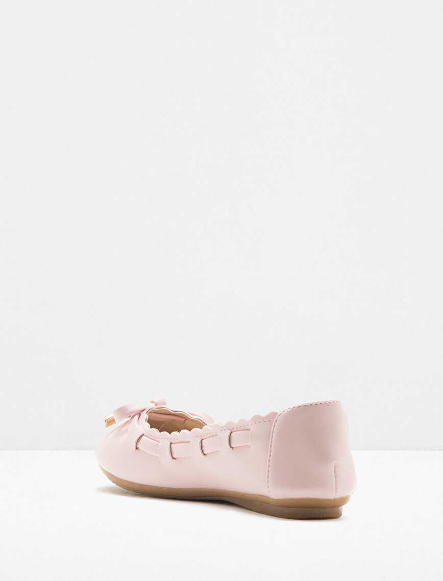 Bow Detailed Flat Shoes