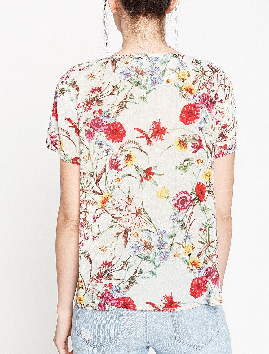 Koton Plus Çiçekli Bluz