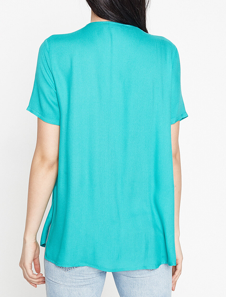 Koton Plus Fermuar Detaylı Bluz