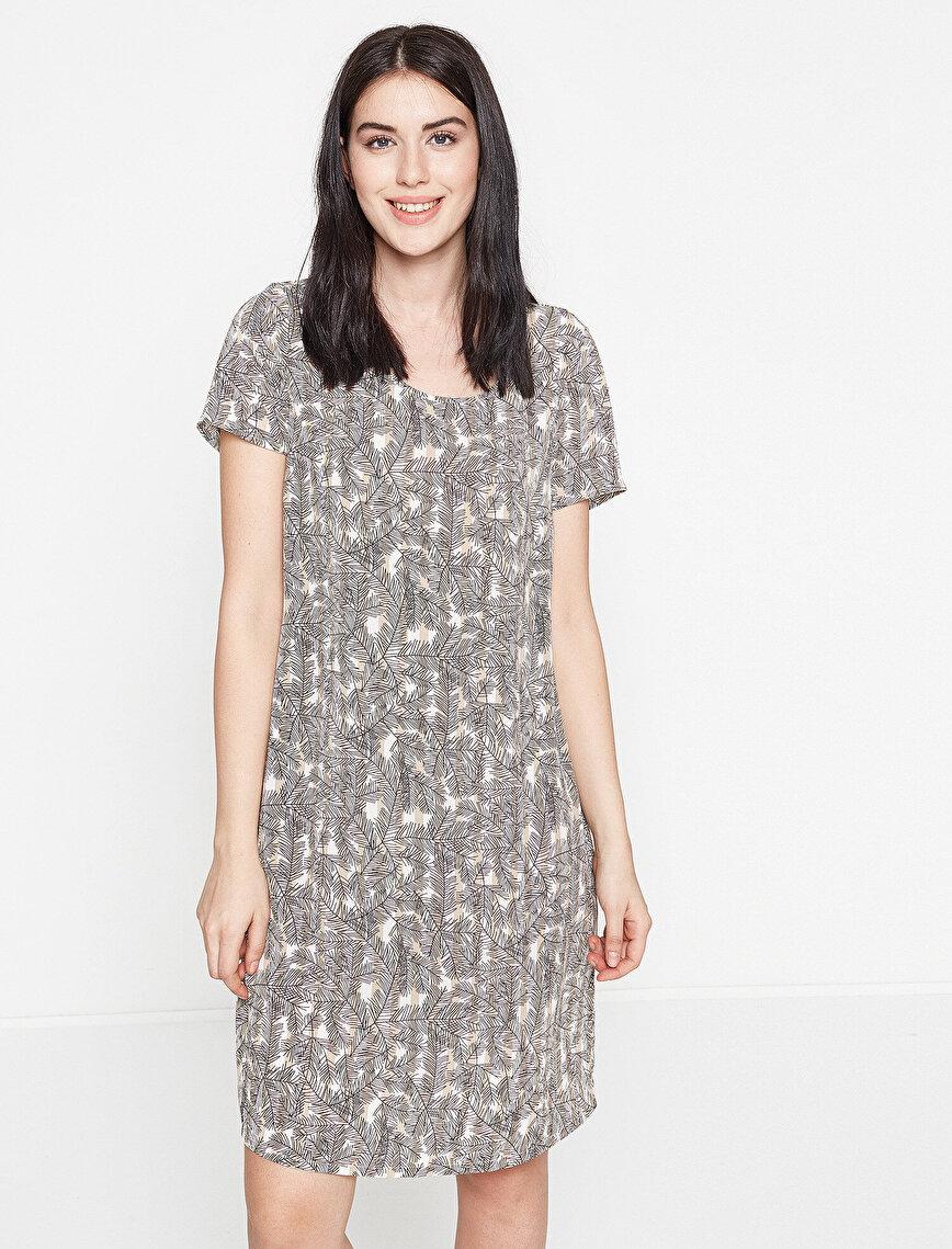 Koton Plus Desenli Elbise