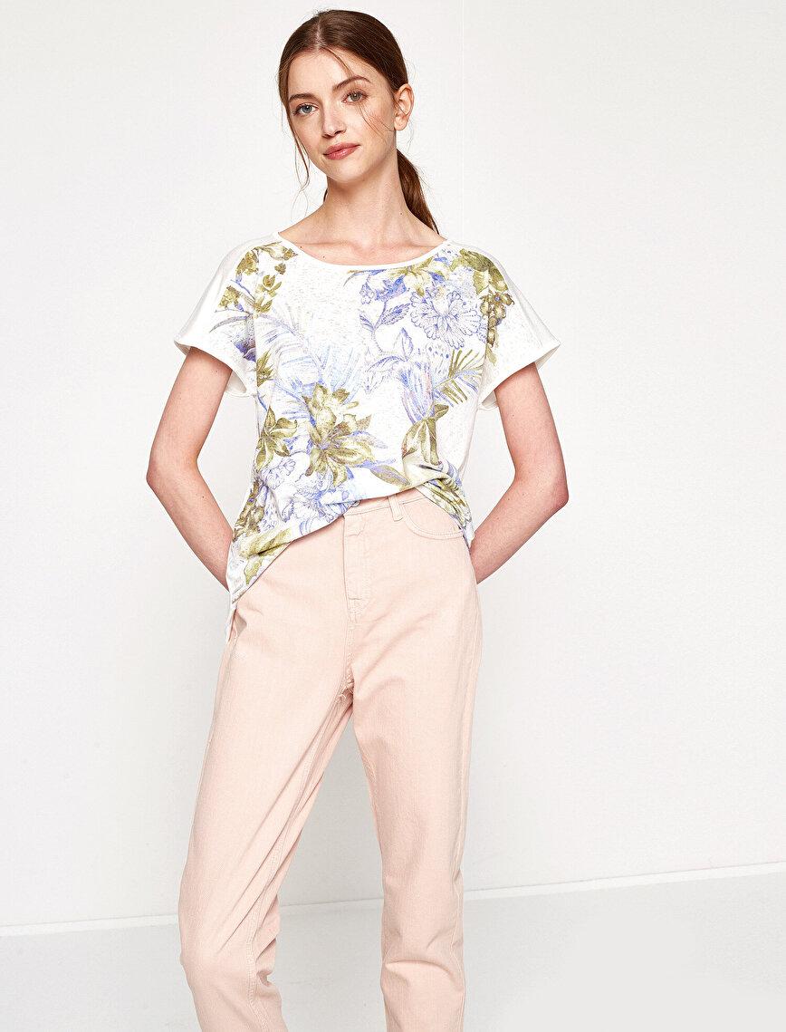 Çiçekli T-Shirt