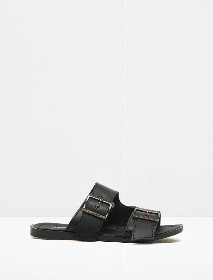 Buckle Detailed Slippers