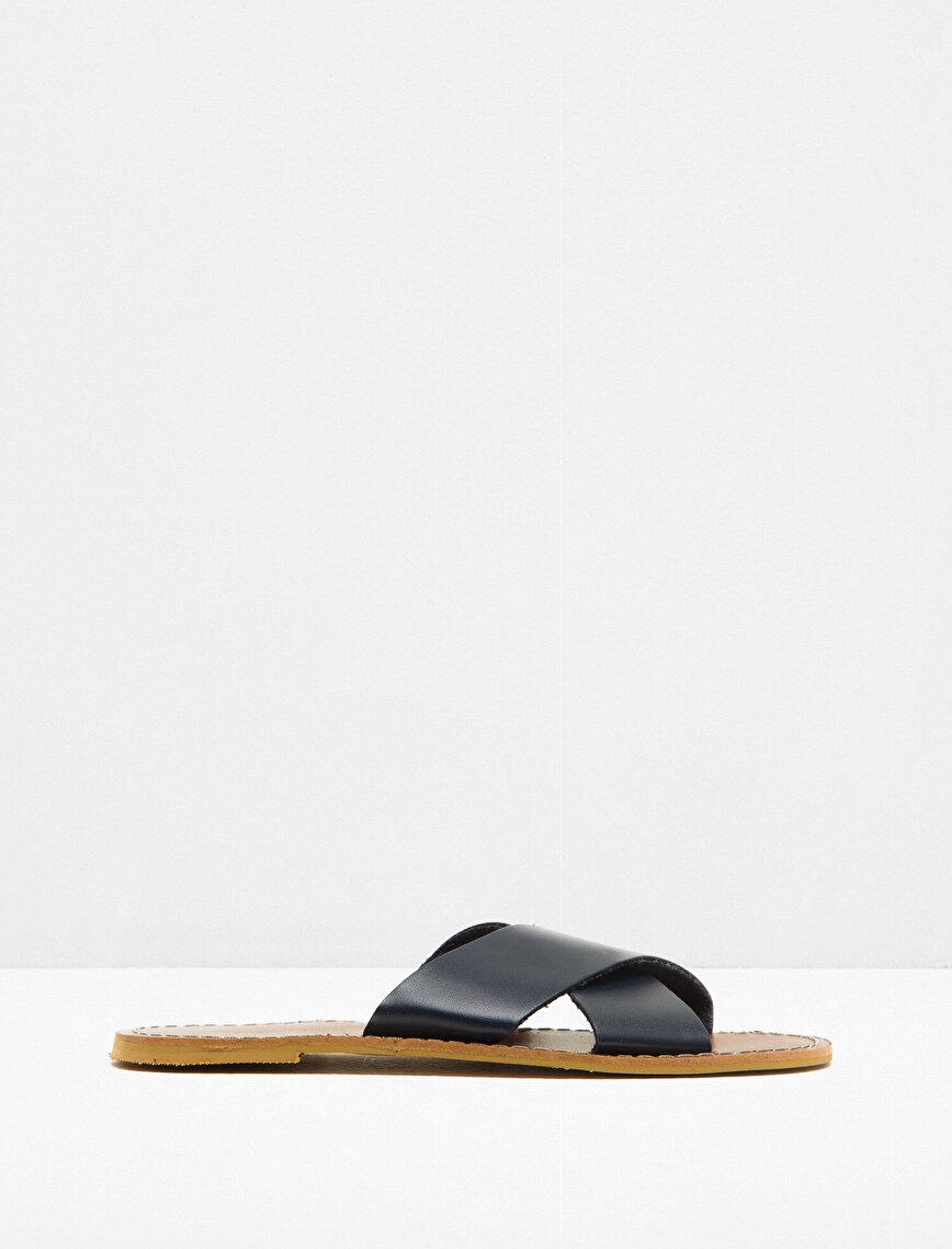 Leather Look Slipper