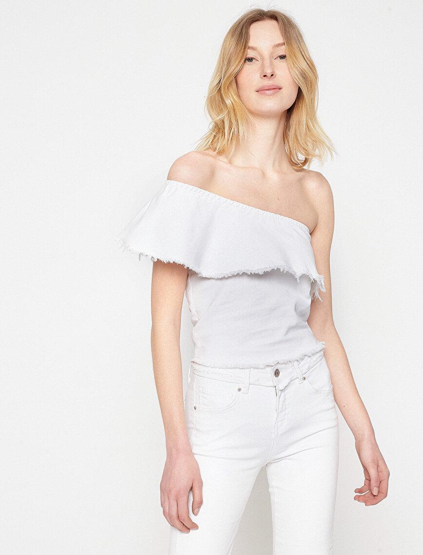 Fahriye Evcen For Koton Jeans Bluz