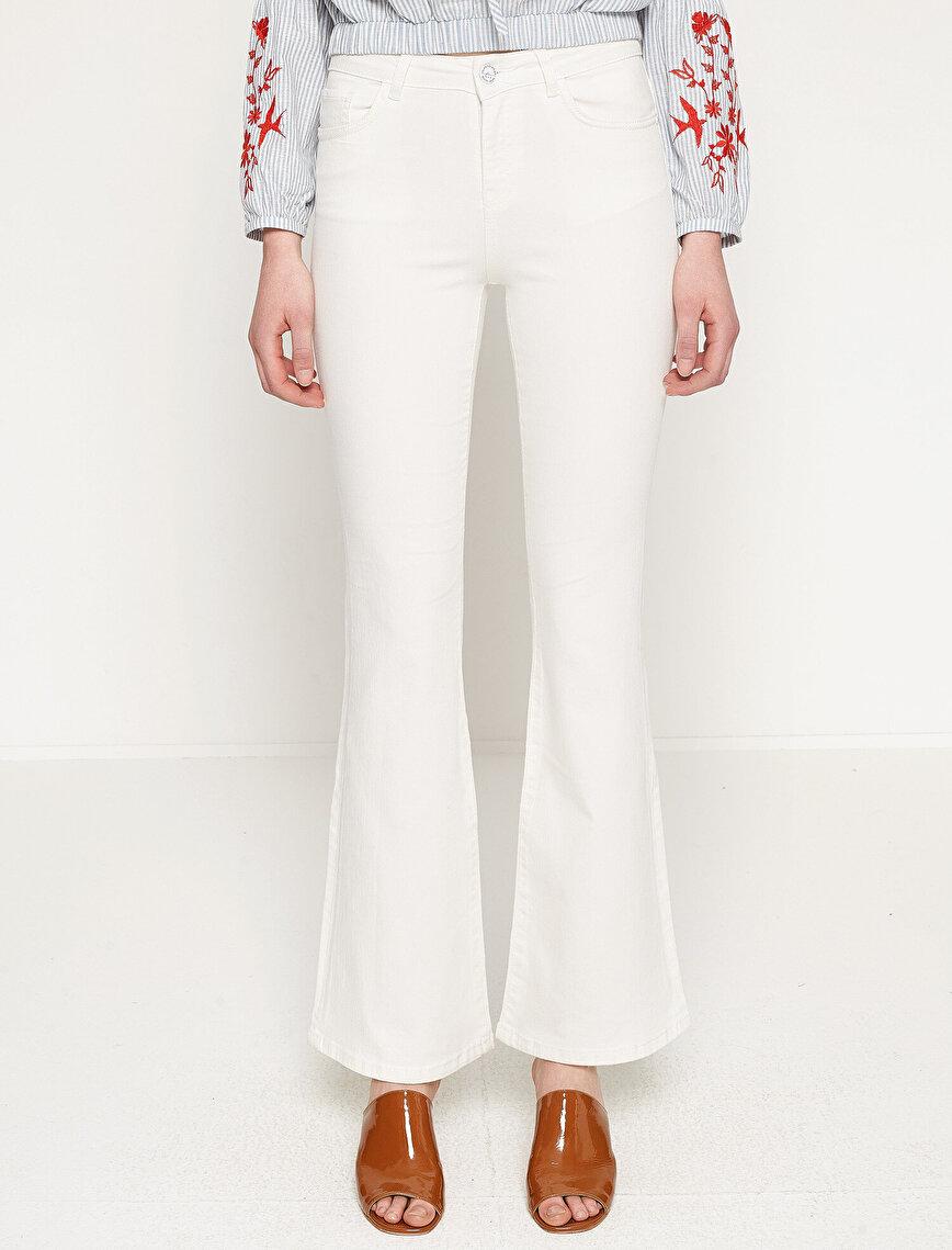 Fahriye Evcen For Koton Jeans Pantolon