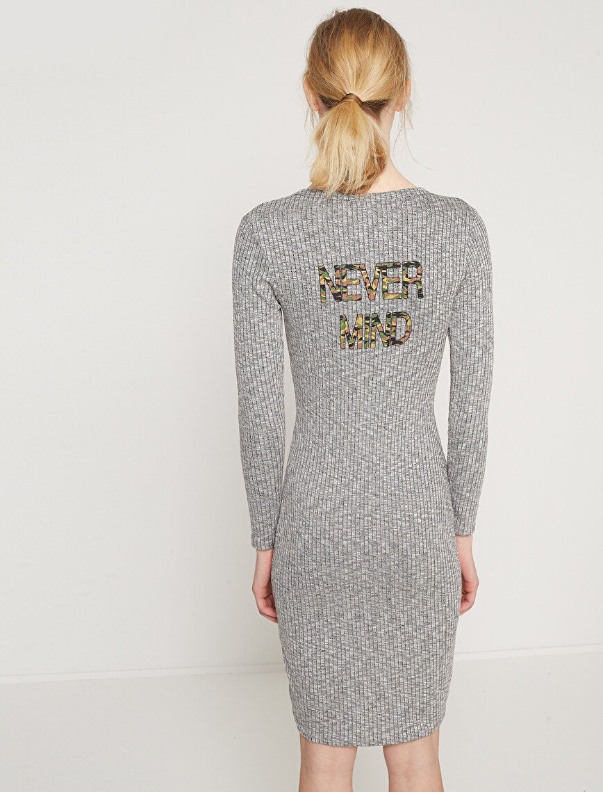 Letter Printed Dress
