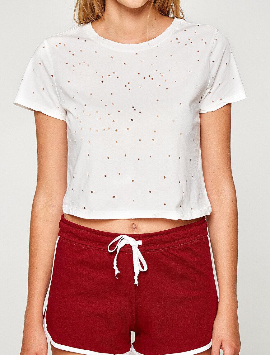 Yırtık Detaylı T-shirt