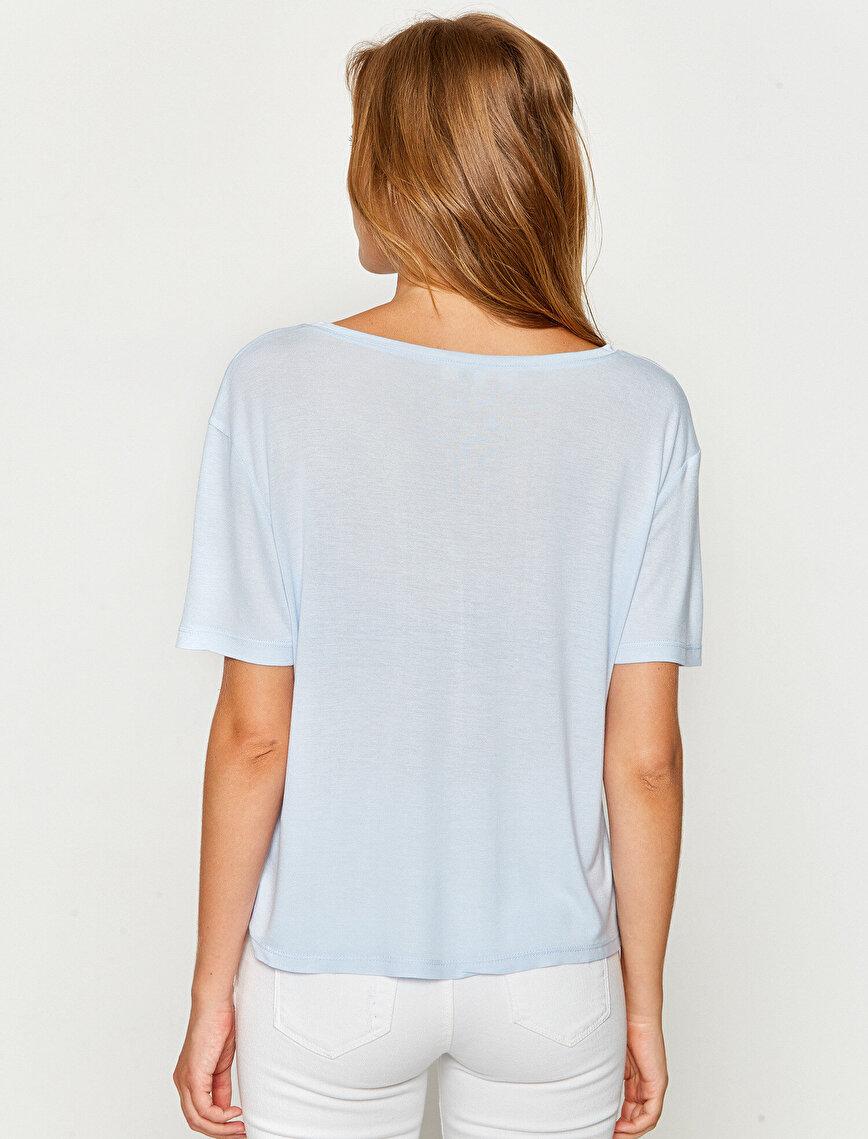 Kuş Gözü Detaylı T-Shirt