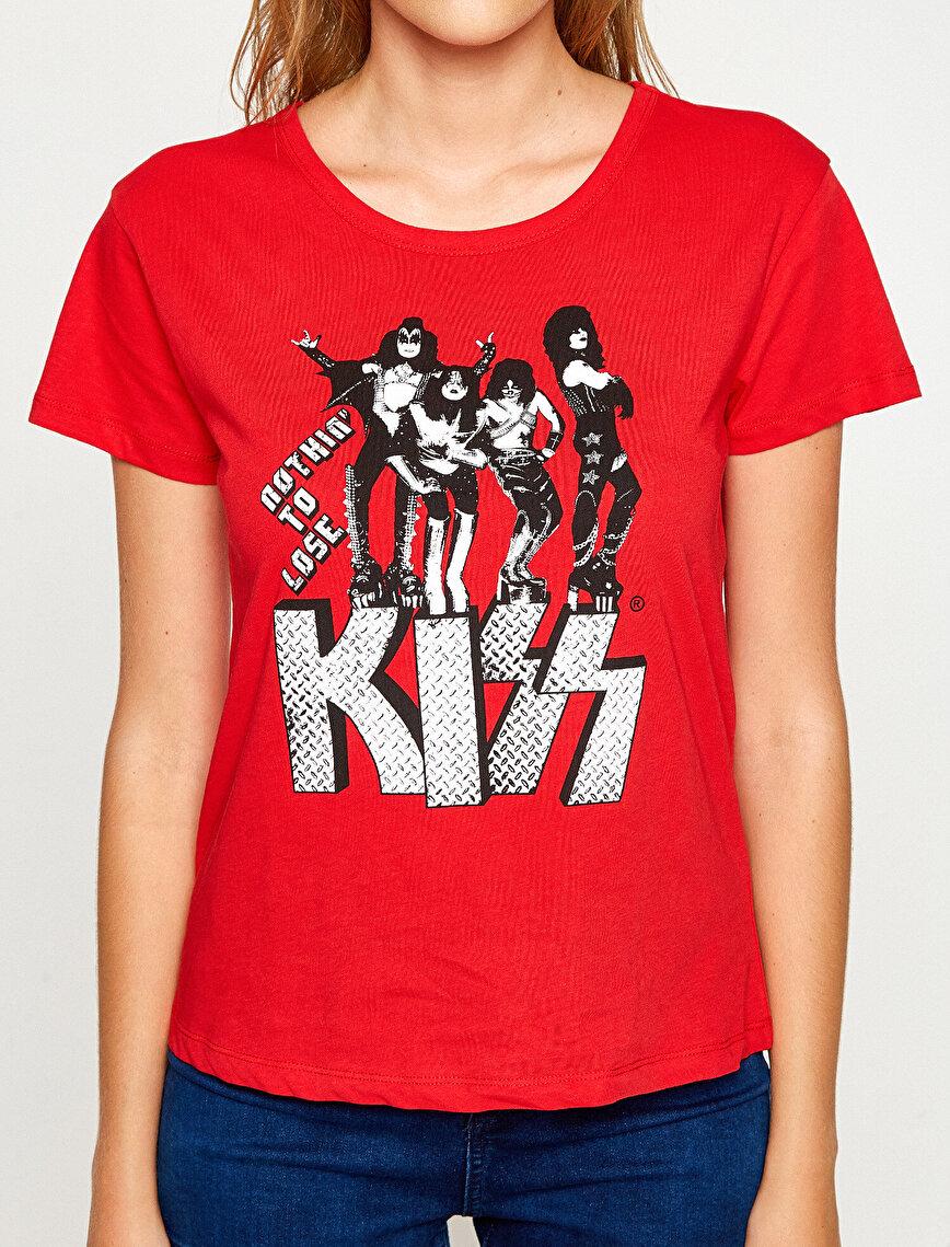 Müzik Lisanslı Baskılı T-Shirt