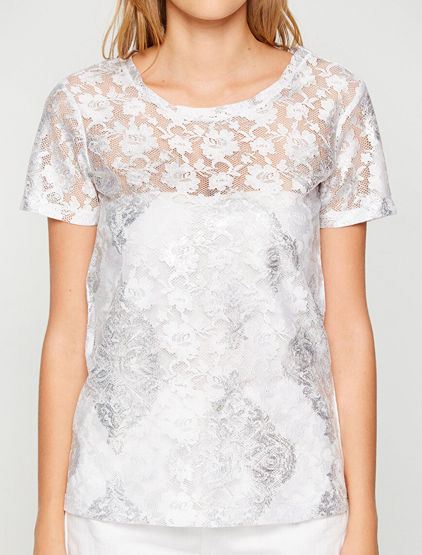 Lace Detailed T-Shirt