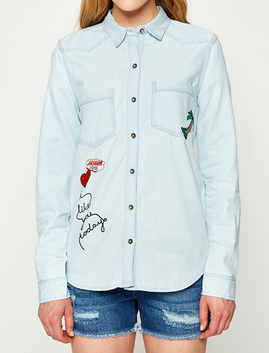 Embellished Jean Shirt