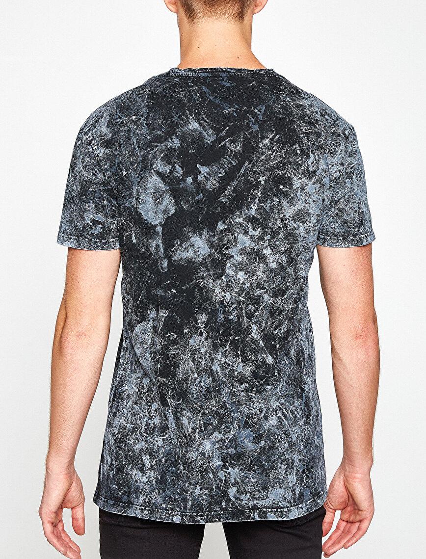 Müzik Lisanslı Kiss Baskılı T-Shirt