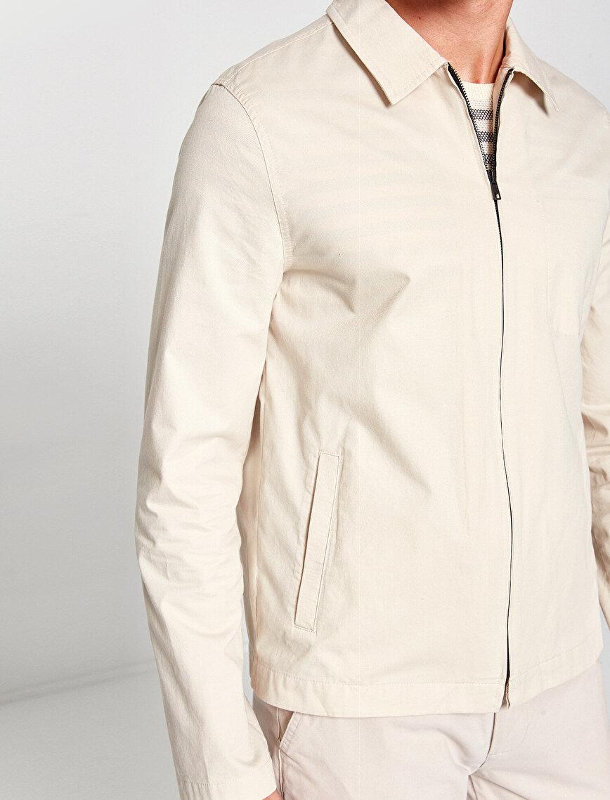 Zipper Detailed Blazers