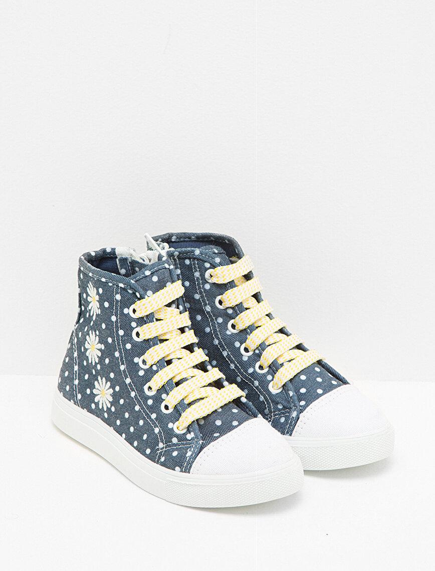 İşlemeli Ayakkabı