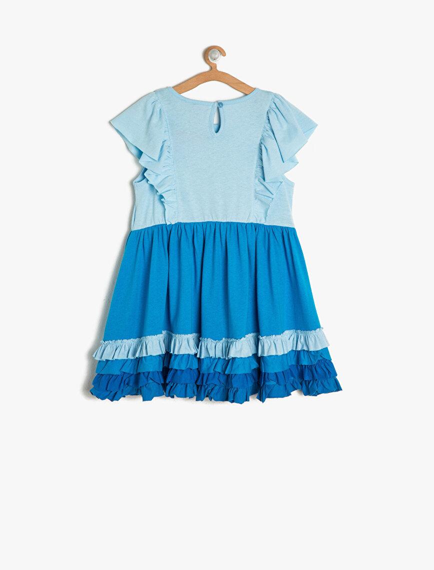 Disney Baskılı Elbise