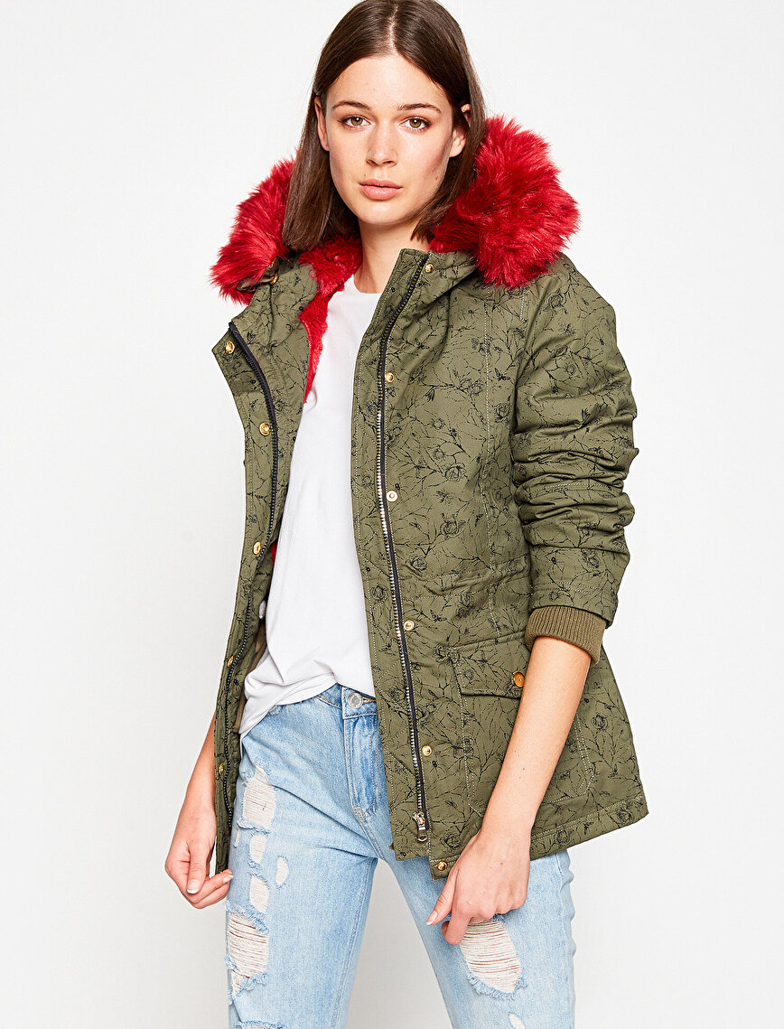 Faux Fur Detailed Parkas