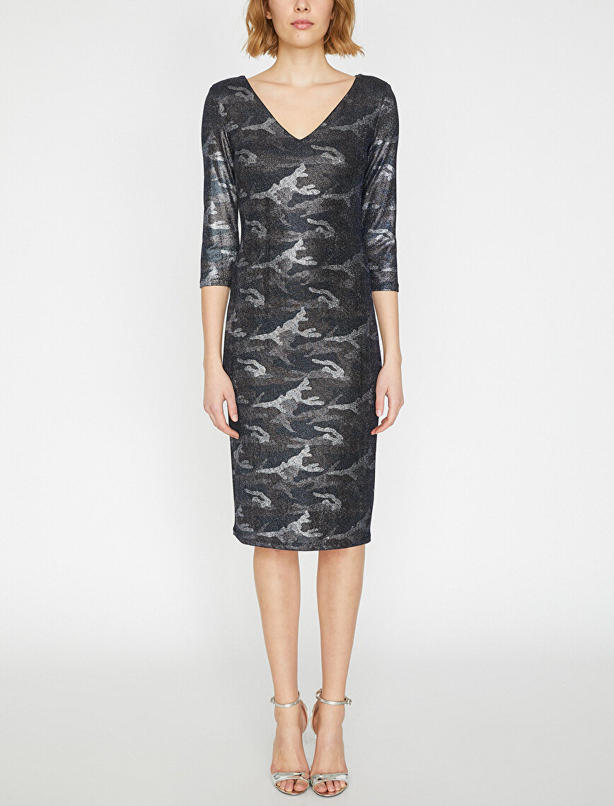 Camouflage Patterned Dress