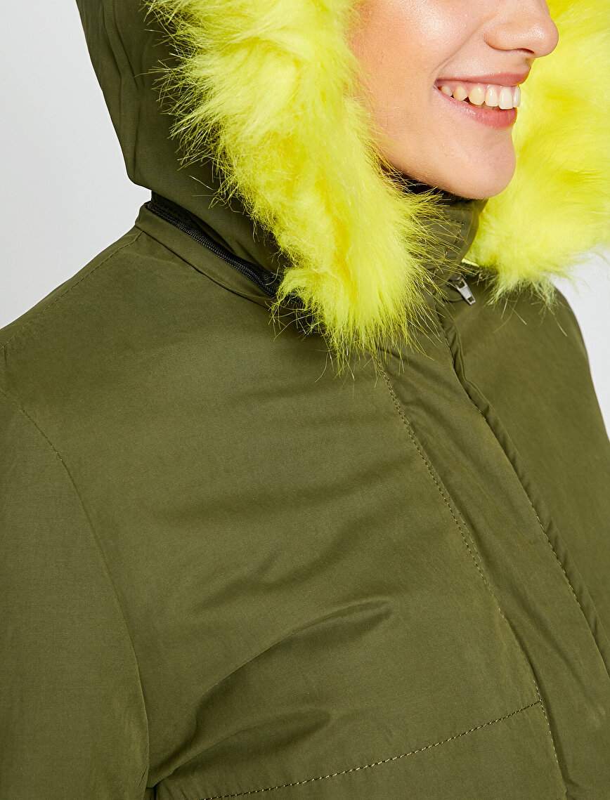Faux Fur Detailed Parka