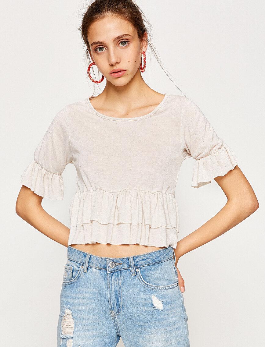 Frill Detailed T-Shirt