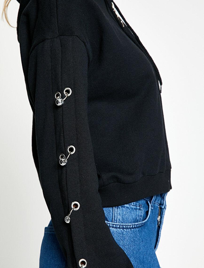 Sleeve Detailed Sweatshirt