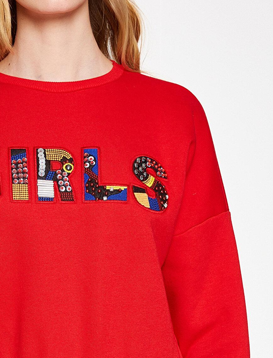 Boncuk Detaylı Sweatshirt