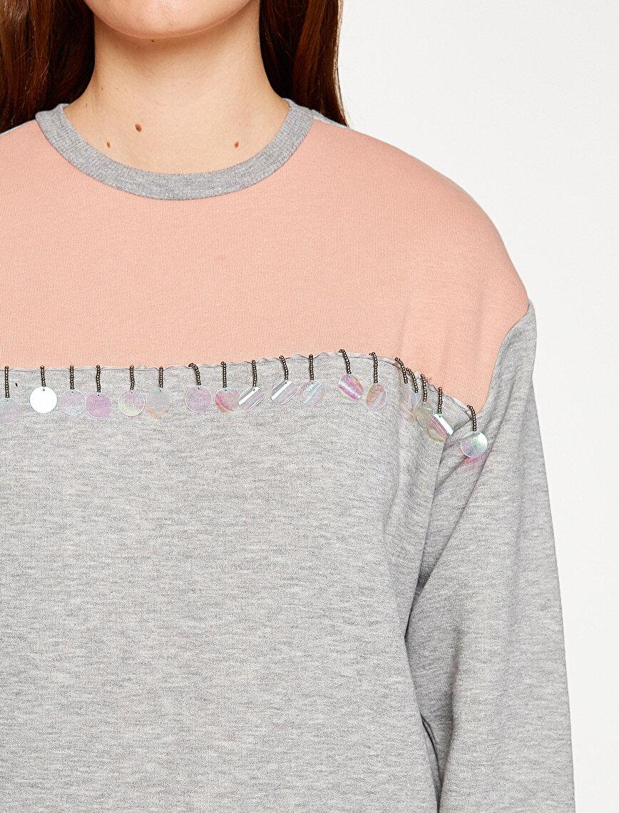 Beads Detailed Sweatshirt