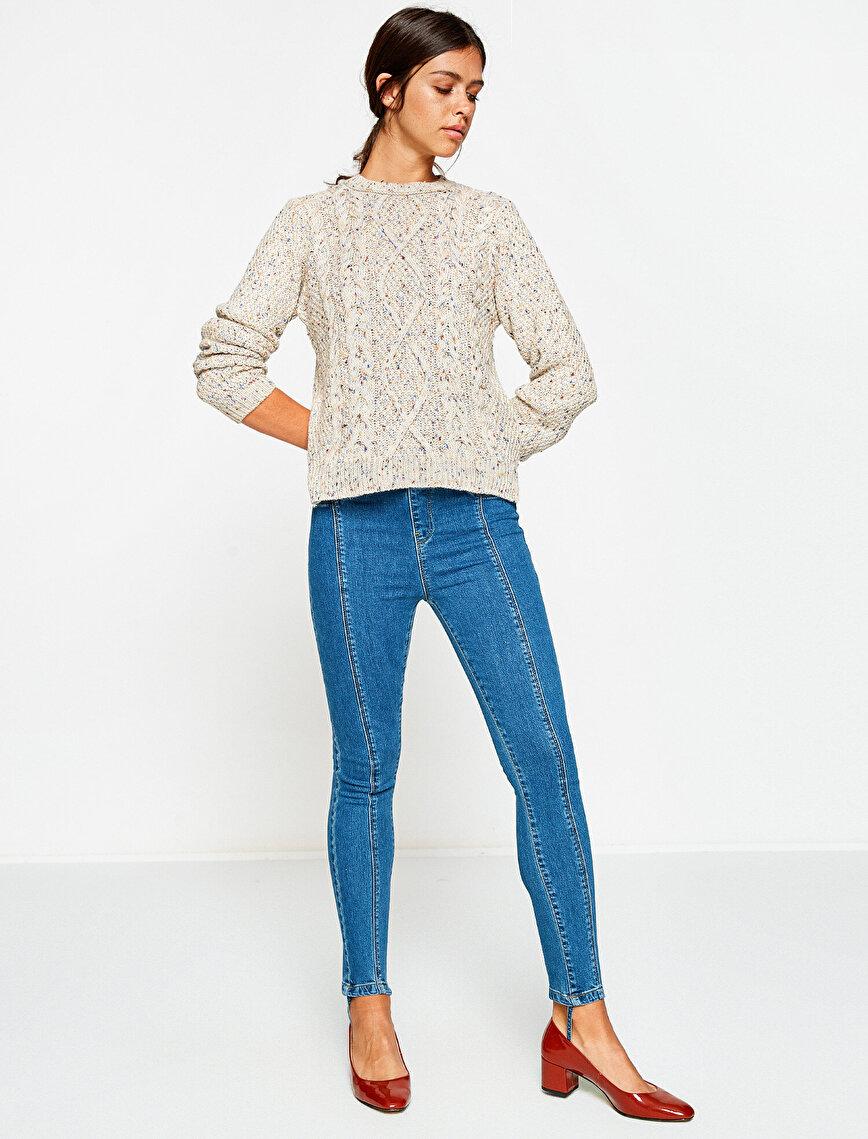Straight Slim Leg Trousers