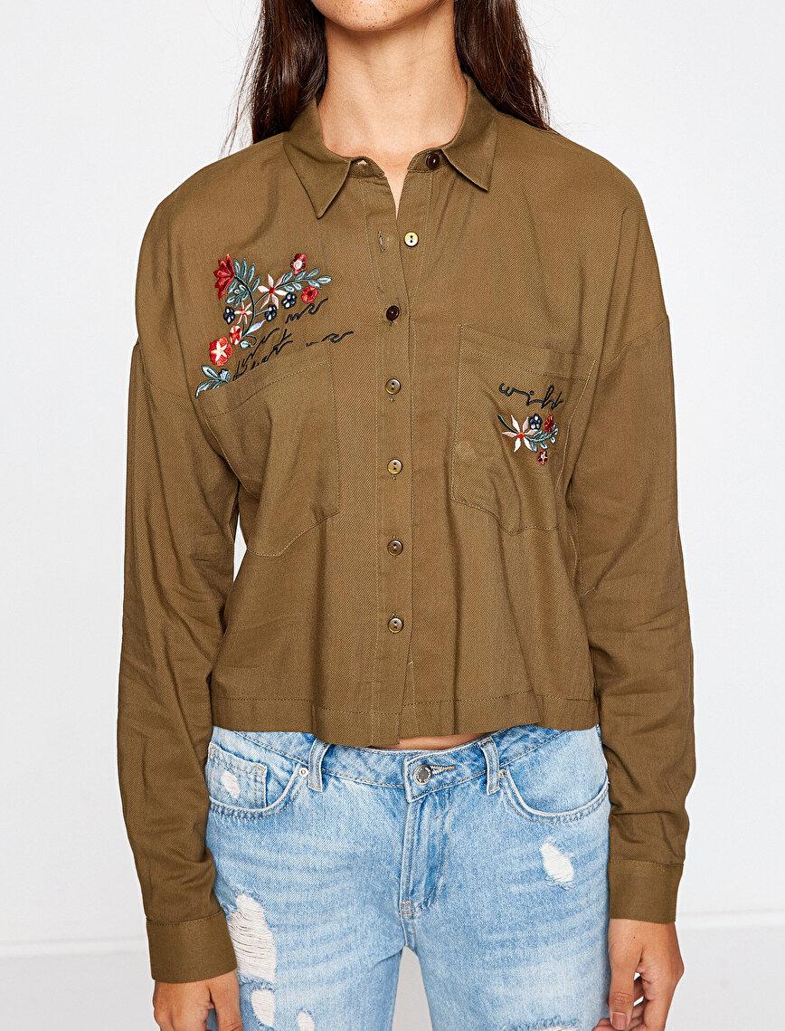 İşlemeli Gömlek