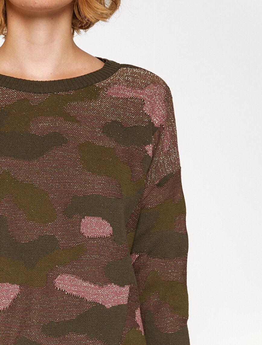 Camuflage Detailed Jumper