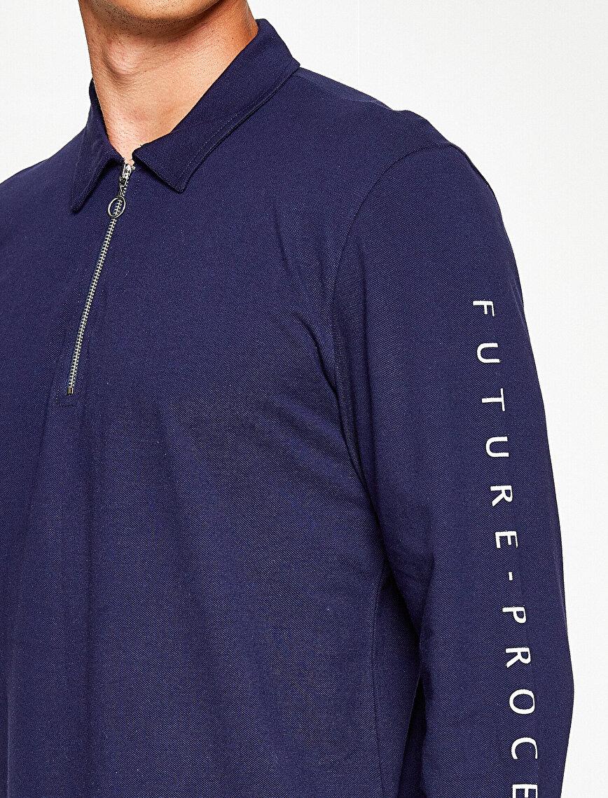 Polo Yaka Uzun Kollu T-Shirt