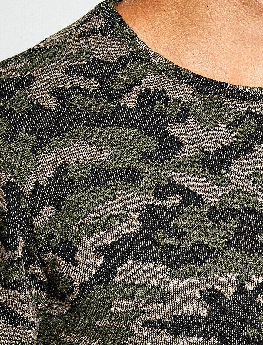 Camuflage Detailed Jumper