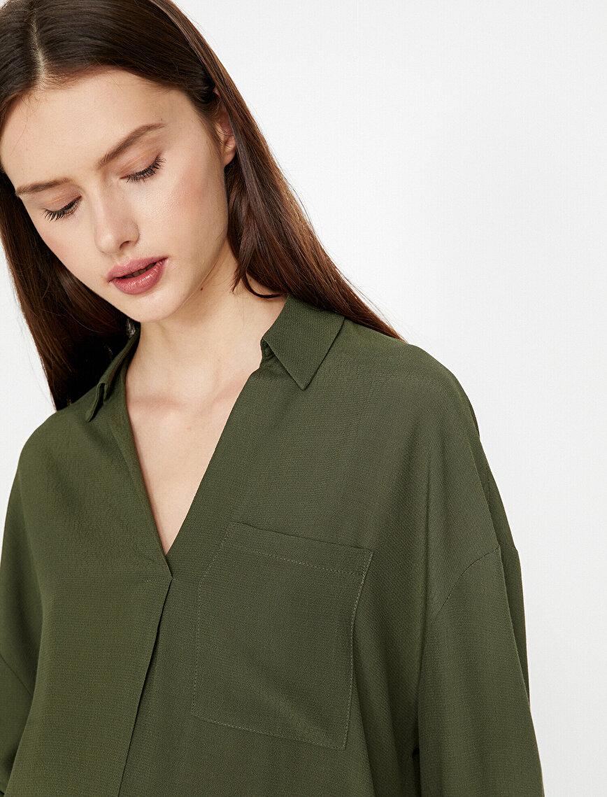 Sırt Detaylı Bluz